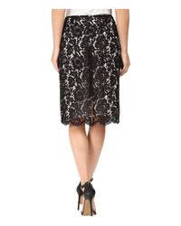 Vince Camuto - Black Scallop Lace Pencil Skirt - Lyst
