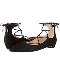 Ivanka Trump - Tropica (black Suede) Flat Shoes - Lyst