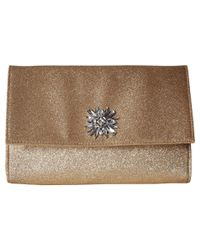 Jessica Mcclintock - Metallic Nora Shimmer Large Envelope Clutch - Lyst