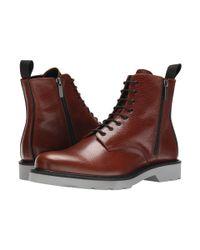 Alexander McQueen - Brown Side Zip Boot for Men - Lyst