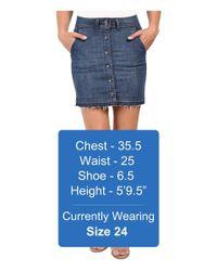 Splendid - Blue Cesarie Indigo Skirt - Lyst