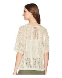 Splendid - Natural Drawstring Hem Pullover - Lyst
