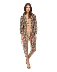 Michael Kors - Multicolor Snake-print Cover-up - Lyst