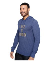 Life Is Good. - Blue ® Ultimate Hoodie Tee for Men - Lyst