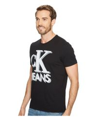 Calvin Klein Jeans - Black Old School Ck Jeans Logo Tee for Men - Lyst