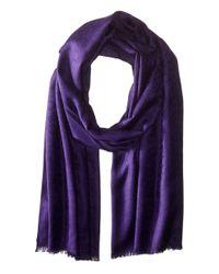 Calvin Klein - Purple Ck Logo Pashmina - Lyst