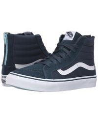 Vans - Blue Sk8-hi Slim Zip for Men - Lyst