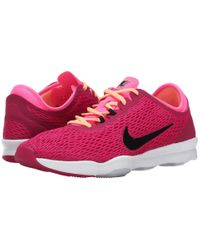 Nike - Pink Zoom Fit Low-Top Training Sneakers - Lyst