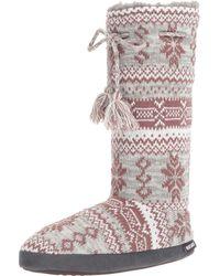Muk Luks - Multicolor Tall Grommet Tie Boot - Lyst
