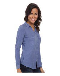 Alternative Apparel - Blue Slub Everyday Button Up Shirt - Lyst