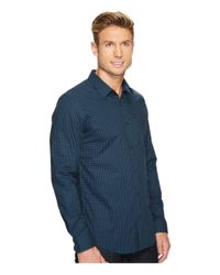 CALVIN KLEIN 205W39NYC - Blue Slim Fit Infinite Cool End On End Shadow Check Button Down Shirt for Men - Lyst