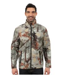 Roper | Brown Printed Camo On Bonded Fleece Zip-up for Men | Lyst
