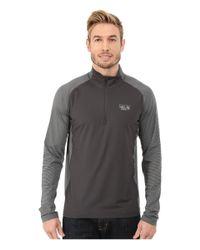 Mountain Hardwear | Gray Butterman 1/2 Zip Top for Men | Lyst