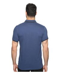 Kenneth Cole - Blue Polo With Tipping for Men - Lyst