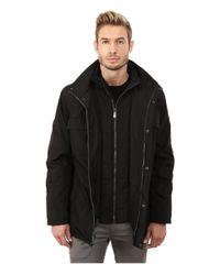 Calvin Klein - Black Poly Jacket With Bib for Men - Lyst