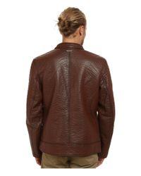 Marc New York   Brown Gramercy Bubble P/u Moto Jacket W/ Chest Zipper Pockets for Men   Lyst