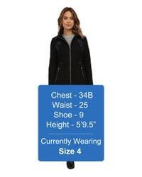 Via Spiga | Black Zip Front Wool Coat W/ Pu Detailing | Lyst