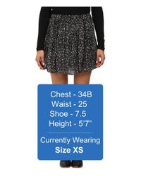 Lucky Brand - Black Printed Mini Skirt - Lyst