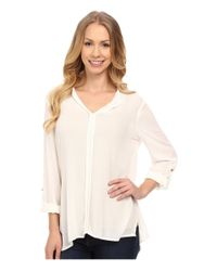 B Collection By Bobeau - White Pleat Back Woven Blouse - Lyst