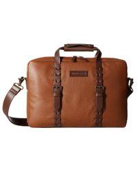 Johnston & Murphy | Brown Zip Top Briefcase for Men | Lyst