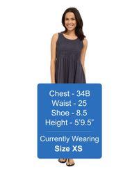Mod-o-doc - Blue Supreme Jersey Eyelet Panel Tank Dress - Lyst