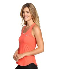 Nike - Orange Court Team Pure Tennis Tank Top - Lyst