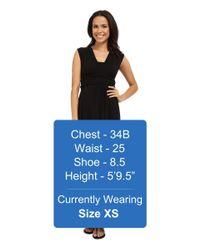 Mod-o-doc - Black Cotton Modal Spandex Jersey Empire Shirred V-neck Maxi Dress - Lyst