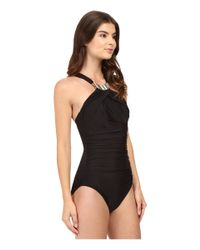 Miraclesuit - Black Solid Bijoux One-piece - Lyst