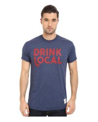 The Original Retro Brand - Blue Drink Local Heather Short Sleeve Tee for Men - Lyst