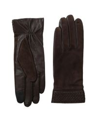 Cole Haan | Brown Braided Cuff Suede Gloves With Tech for Men | Lyst