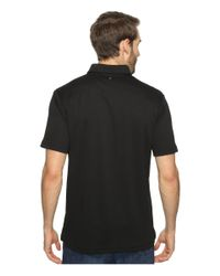 Quiksilver - Black Water Polo 2 Short Sleeve Knit Polo for Men - Lyst