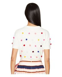 Kate Spade - Multicolor Spice Things Up Pom Sweater - Lyst