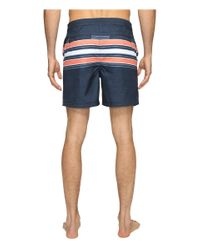 Original Penguin | Blue Engineered Stripe Swim for Men | Lyst