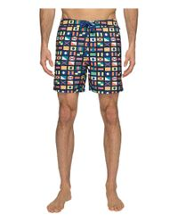 Original Penguin - Blue Nautical Flag Printed Swim Shorts for Men - Lyst