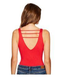 Lucy Love - Red Scoop Bodysuit - Lyst