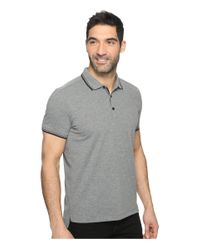 Kenneth Cole - Gray Polo With Tipping for Men - Lyst