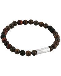 Chan Luu - Metallic Sterling Silver Stretch Bracelet W/ Semi Precious Stones for Men - Lyst