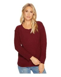 BB Dakota - Red Eugene Waffle Knit Sweater - Lyst