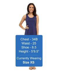 Mod-o-doc - Blue Tonal Tencel Stripe Tank Dress - Lyst