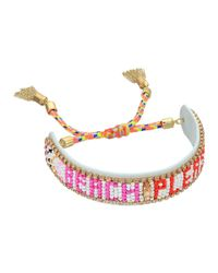 Rebecca Minkoff - Multicolor Beach Please Seed Beaded Friendship Bracelet - Lyst