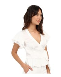 Nanette Lepore - White Two-step Wrap Top - Lyst