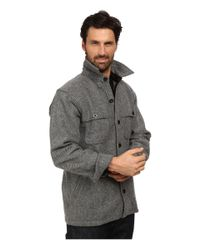 Woolrich - Gray Wool Stag Shirt Jacket for Men - Lyst