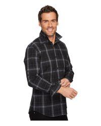 Calvin Klein - Black Blown-up Plaid Roll-up Button Down Shirt for Men - Lyst