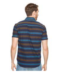 Lucky Brand - Blue Short Sleeve Ballona Shirt for Men - Lyst