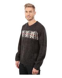 U.S. POLO ASSN. - Black Snowflake Crew Neck Sweater for Men - Lyst