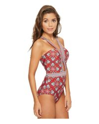 Laundry by Shelli Segal - Red Butterfly Twin Cut Out One-piece Swimsuit - Lyst