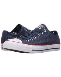 Converse - Blue Chuck Taylor® All Star® Crochet Ox - Lyst
