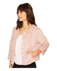 Sanctuary - Pink Faux Real Chubby Jacket - Lyst