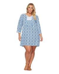 Carole Hochman - Blue Plus Size Jersey Sleepshirt - Lyst