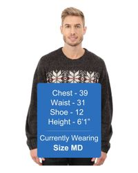 U.S. POLO ASSN. - Black Snowflake Crew Neck Sweater for Men - Lyst